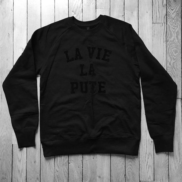 photo pute de luxe tee shirt la vie la pute